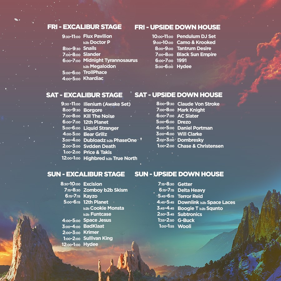 Set Times | Ever After Music Festival 2018 | Welcome to Your Wonderland
